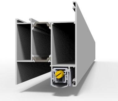 Автоматические пороги для  дверей из алюминиевого профиля