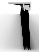 Полосовые  щетки c горизонтальным профилем серии  127С