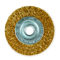 Дисковые щетки Ø50-100, латунированная стальная гофрированная проволока