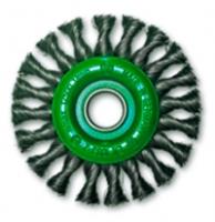 Дисковые щетки для УШМ Ø100-178, нержавеющая стальная жгутовая проволока