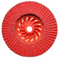 Круги лепестковые тарельчатые JET ceramic с абразивной керамикой, конической/плоской формы DRONCO