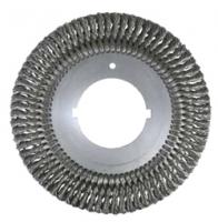 Щеточные наборные диски Ø200-420, стальная жгутовая проволока