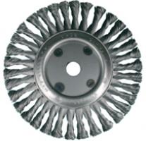 Дисковые щетки Ø200-350, стальная жгутовая проволока
