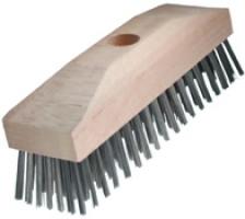 Уборочные щетки с деревянным корпусом, прямая стальная проволока