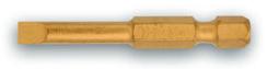 Биты-насадки шлицевые 50 мм, TiN